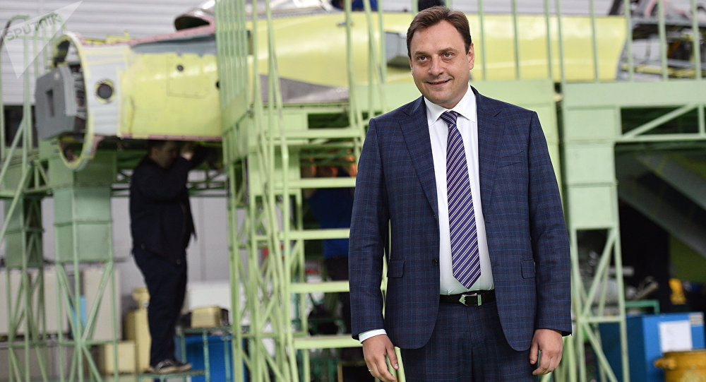 """俄罗斯""""米格""""飞机制造集团总经理伊利亚·塔拉先科"""