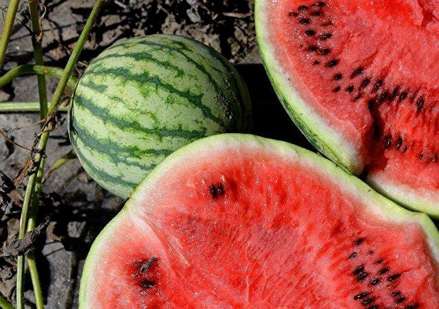 西瓜做成的特殊美食