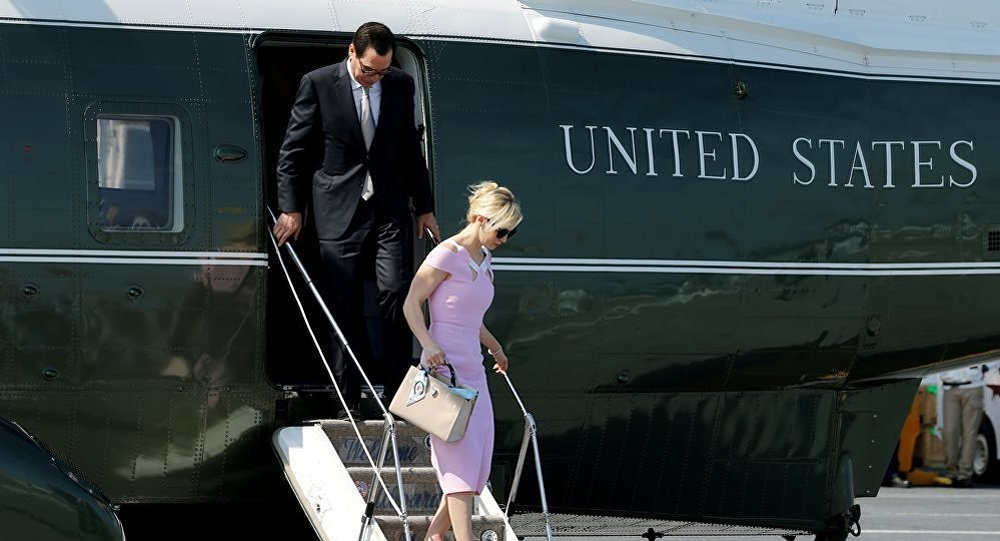 美财政部长或乘政府飞机观赏日食