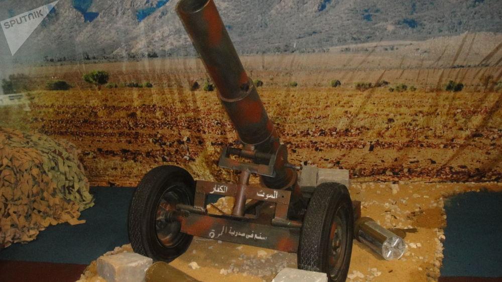 叙利亚武装分子的迫击炮