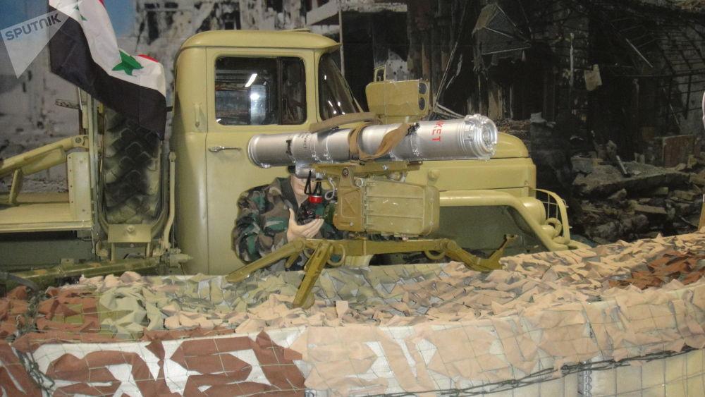 """叙军""""巴松管""""(Fagot)反坦克导弹"""