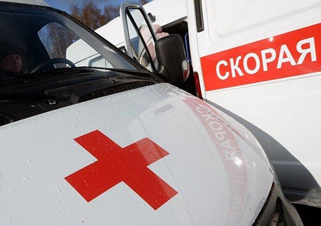 一辆搭载40名儿童的大巴在莫斯科近郊与一辆轿车相撞