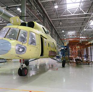 安萨特直升机正在装配过程中