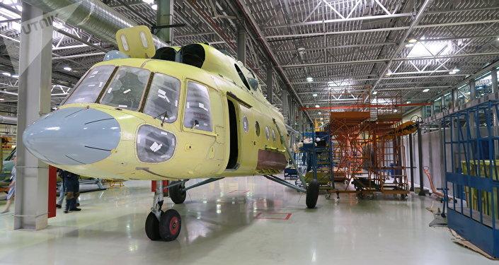 安薩特直升機正在裝配過程中