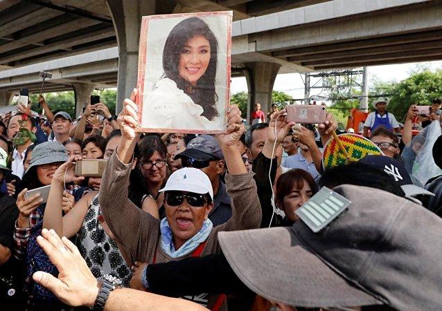 泰国红衫军领袖:前总理英拉∙西那瓦支持者将原谅其逃离出境行为