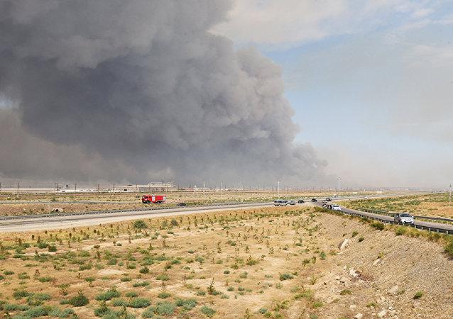 阿塞拜疆国防部和紧急情况部证实军械库爆炸的消息 有人员伤亡