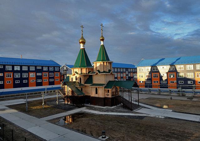 俄联邦亚马尔—涅涅茨自治区的萨别塔村