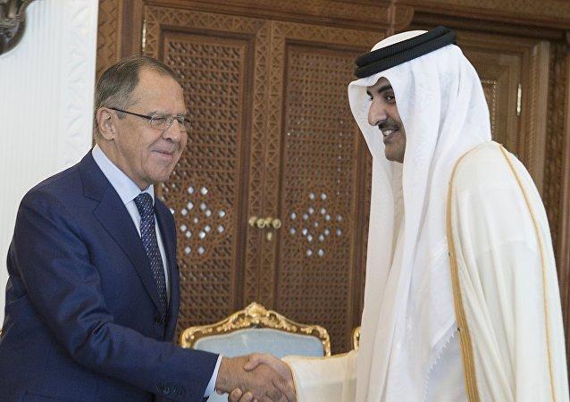 俄外长与卡塔尔埃米尔于多哈举行会谈