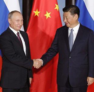 俄中元首在金磚國家峰會前夕就雙邊協議實施情況進行會談