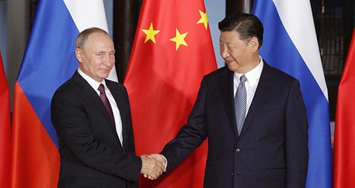 俄中元首在金砖国家峰会前夕就双边协议实施情况进行会谈