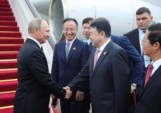 3 сентября 2017. Владимир Путин прибыл в китайский Сямэнь для участия в саммите БРИКС.