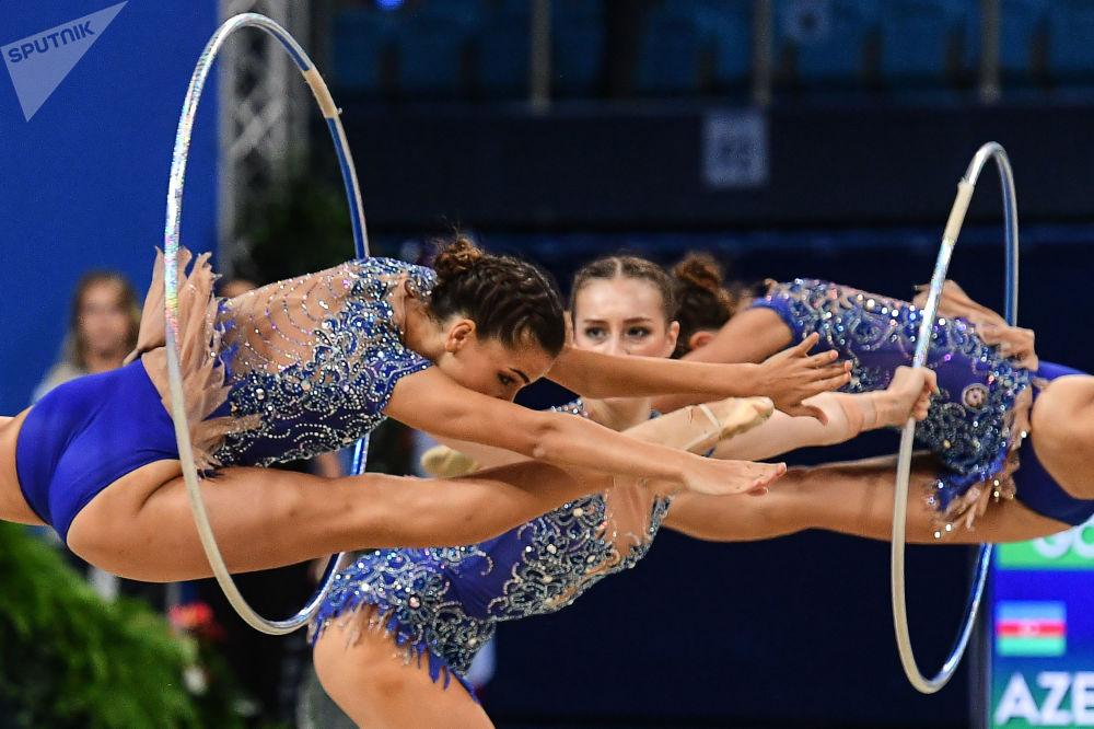 阿塞拜疆国家队的女体操运动员们