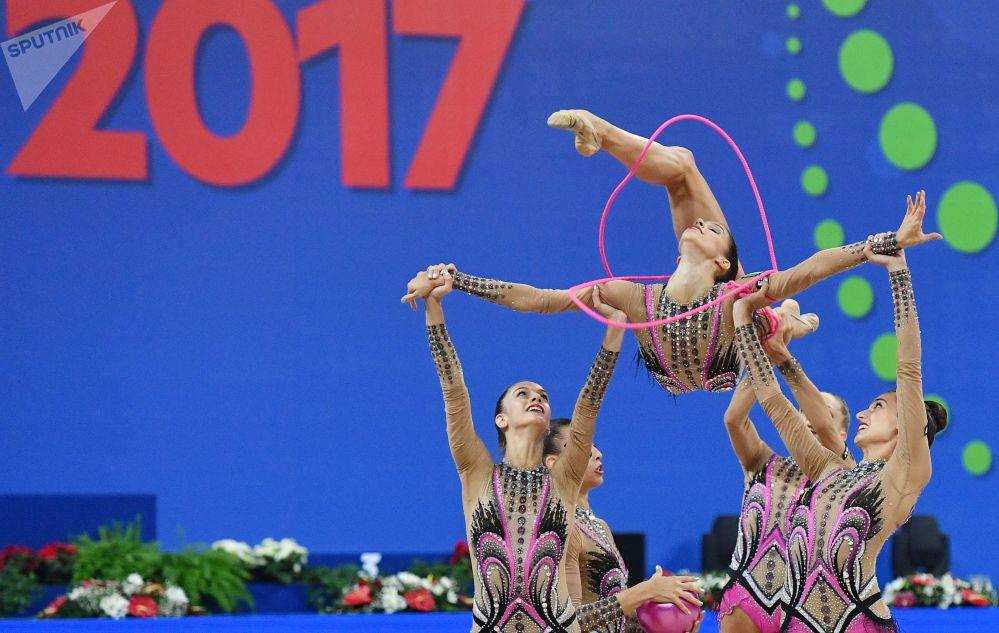 意大利队的女体操运动员们