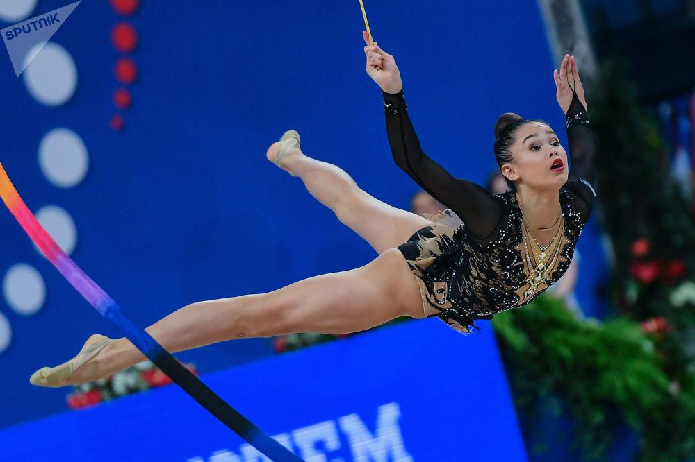 新西兰队的女体操运动员