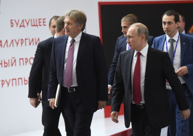 俄新聞秘書佩斯科夫與俄總統普京
