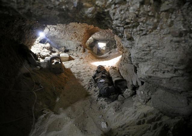 埃及考古学家在卢克索发现3500年前的古墓和木乃伊