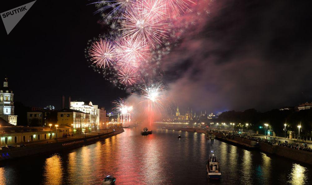 為慶祝莫斯科城市日燃放的煙花