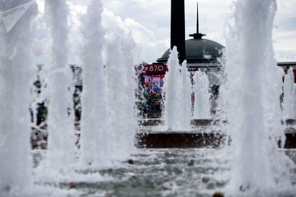 莫斯科俯首山上的噴泉
