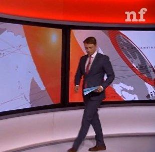 BBC记者在直播厅内跑迷糊