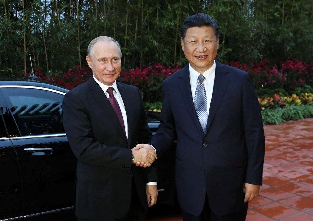 俄罗斯总统普京和中国国家主席习近平