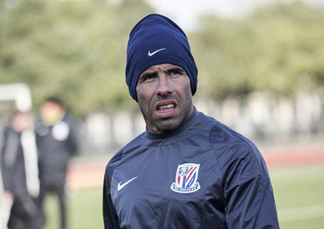 中国上海申花足球俱乐部的阿根廷前锋卡洛斯·特维斯