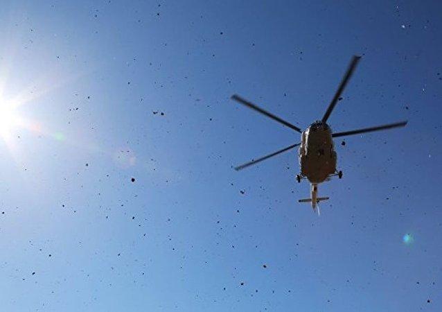 一架直升机在波罗的海海域失事