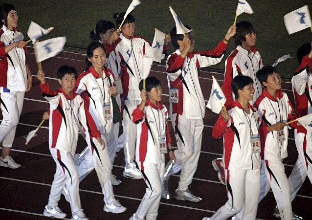 最后一批参加冬奥会的朝鲜运动员抵达韩国