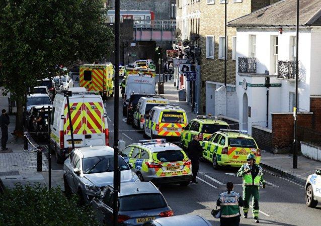 媒体公布疑似引发伦敦地铁爆炸物体的照片