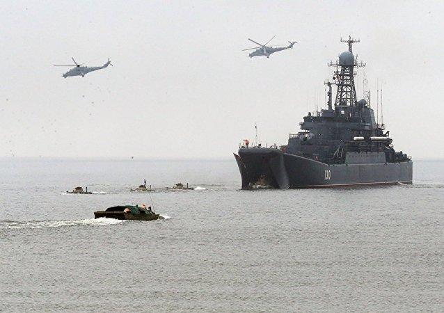 """约20艘波罗的海军舰出海在""""西方-2017""""演习期间执行任务"""