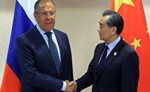 俄外長拉夫羅夫與中國外長王毅