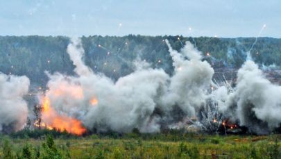 军演在列宁格勒州举行