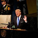"""特朗普:如果朝鲜威胁美国 美国将对其实施""""彻底摧毁"""""""