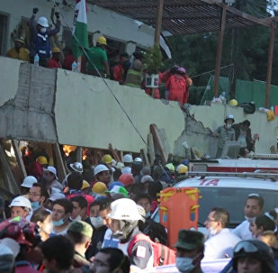 墨西哥地震救援現場