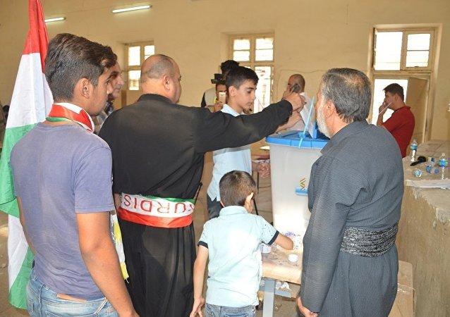 媒体:伊拉克库尔德斯坦许多城市超过90%的居民投票赞成独立