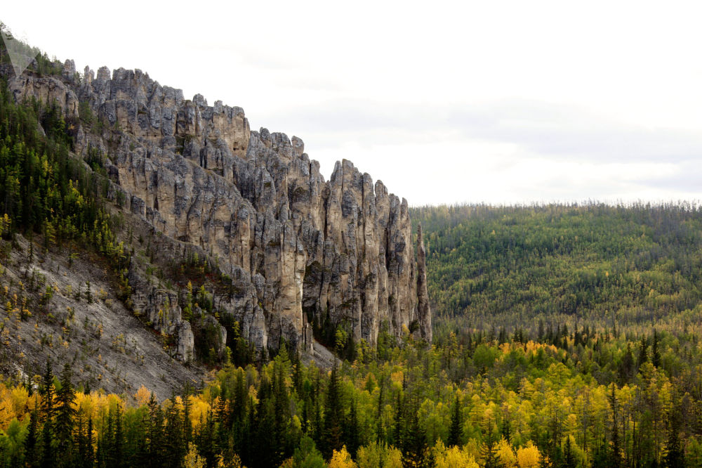 雅库特的勒拿河柱状岩国家自然公园