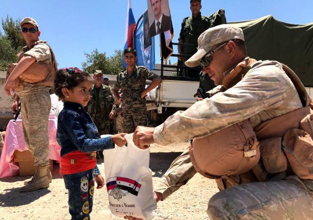 俄军在叙利亚开展针对残疾人的人道主义行动