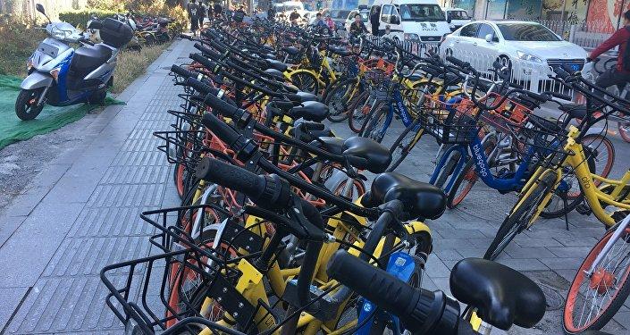 北京当局加强对自行车租赁的要求