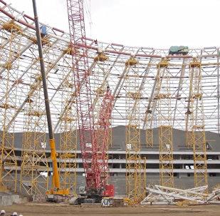 國際足聯官員視察薩馬拉世界杯球場建設情況
