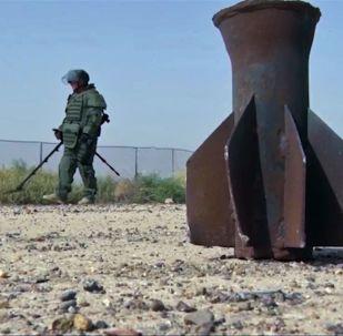 俄罗斯工兵在叙利亚代尔祖尔排雷