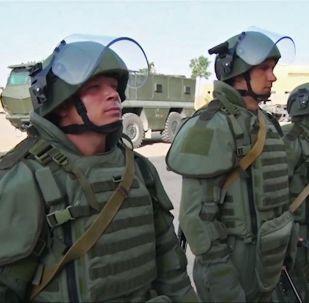 在代爾祖爾排雷期間的俄羅斯武裝力量國際排雷中心專家