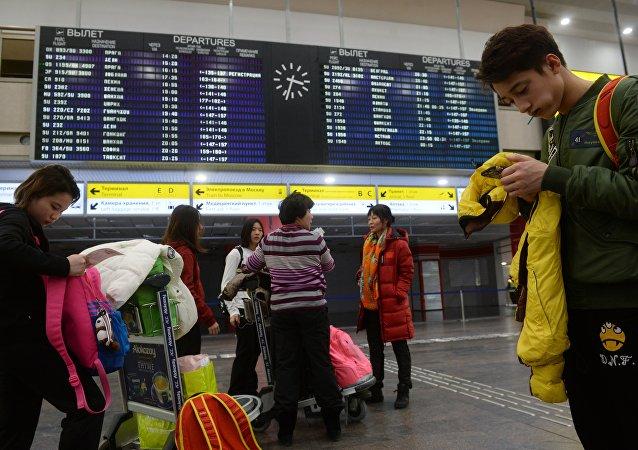 滞留机场的中国公民