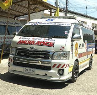 泰国出现卡通主题救护车