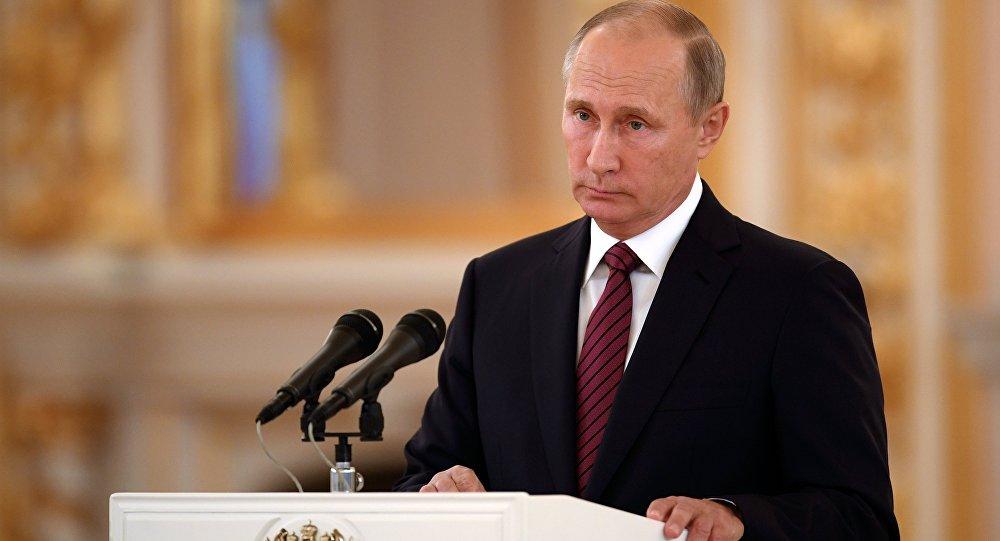 3 октября 2017. Президент РФ Владимир Путин выступает на церемонии вручения верительных грамот послов