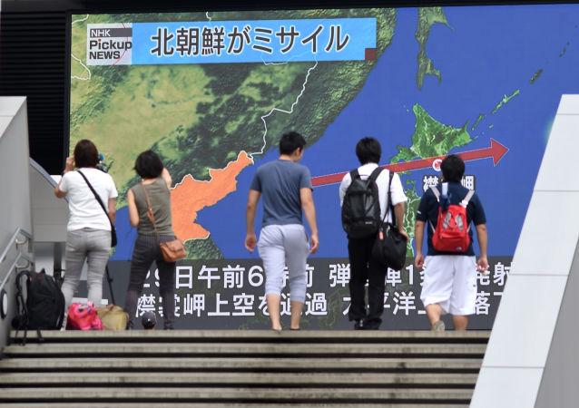 """朝鲜以""""核云""""威胁日本"""