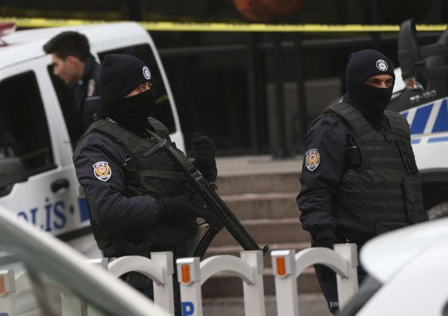 土耳其警方在安卡拉
