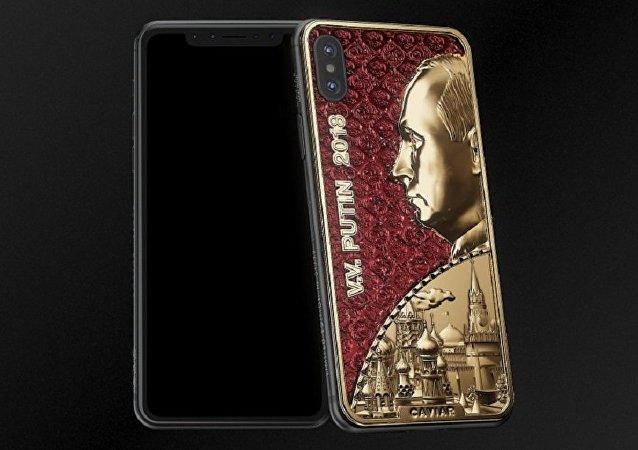 俄公司推出改装版iPhone X手机为普京庆生