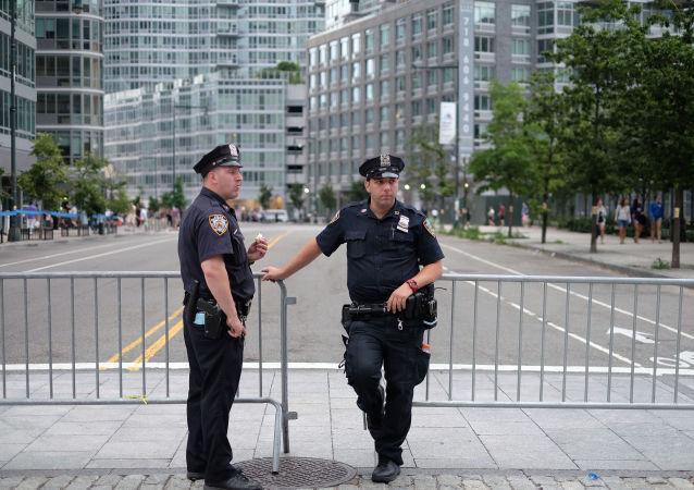 纽约警方逮捕一名驾车冲撞行人者