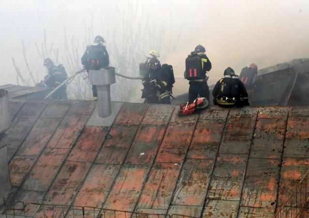 莫斯科商场火势面积达5.5万平方米