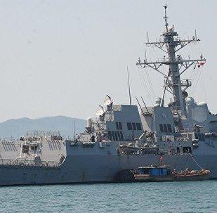 """美国导弹驱逐舰""""查菲""""号(USS Chafee)"""