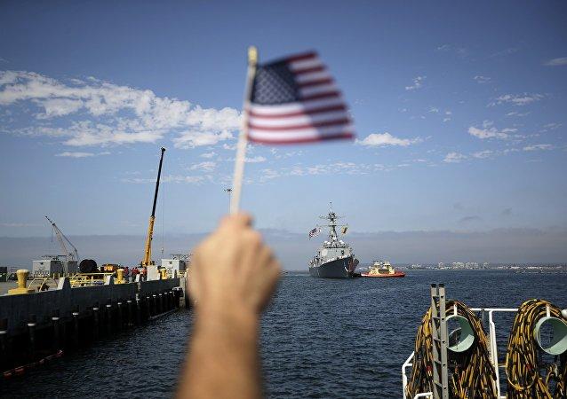 朝媒把美国可能从海上封锁平壤的做法与宣战相提并论